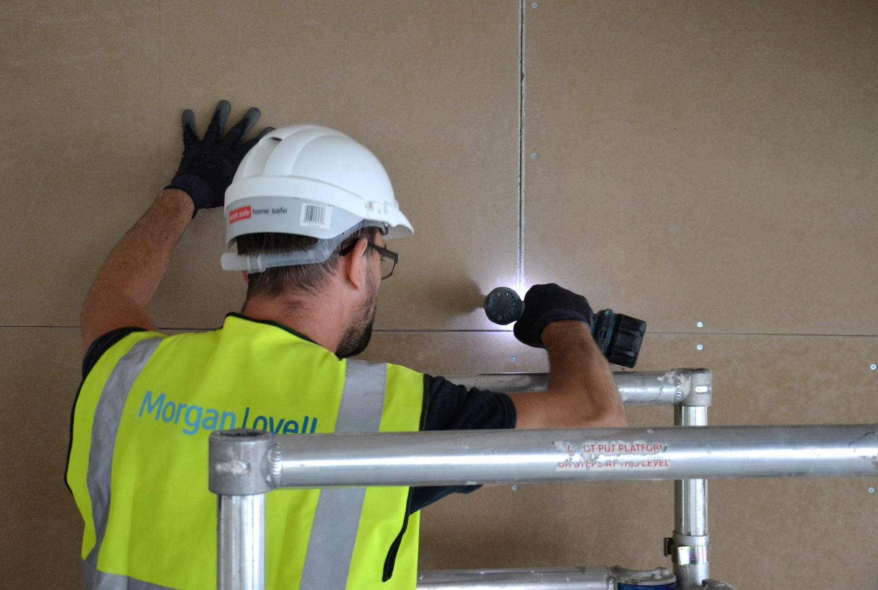 Breathaboard being installed