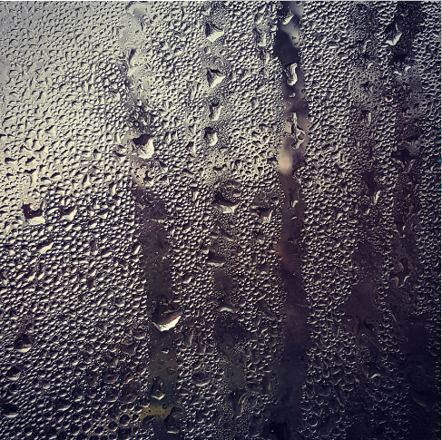 Condensation occurs when warm, moist air meets a surface (or air) of a lower temperature.