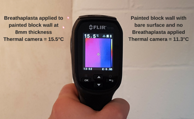 Breathaplasta increases the surface temperature of internal walls minimising the risk of condensation by creating a warmer surface. This additionally reduces heating demand and saves money on energy bills.